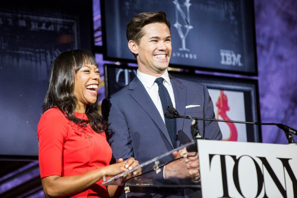 Tony Nominations - Andrew Rannells and Nikki M. James - 5/16 - Emilio Madrid-Kuser