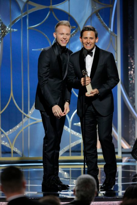 Benj Pasek - Justin Paul - Golden Globes - 1/18 - Paul Drinkwater/Getty Images