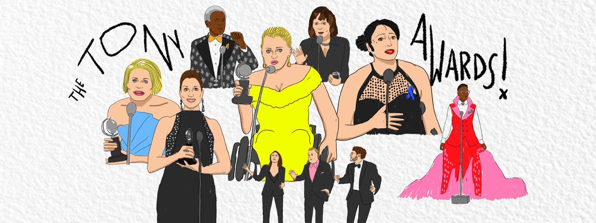 Tony Awards 2019 Illustrations - 6/19 - Ryan Casey